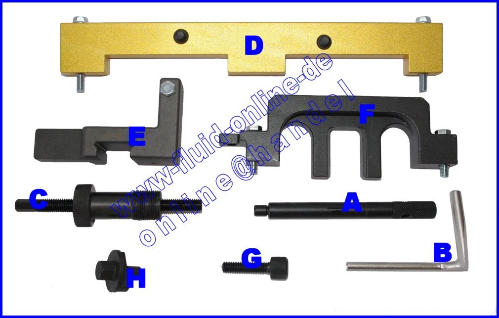 satz 8089 bmw werkzeug wechsel steuerkette n42 n46 motor e46 e87 e90 e83 ebay. Black Bedroom Furniture Sets. Home Design Ideas
