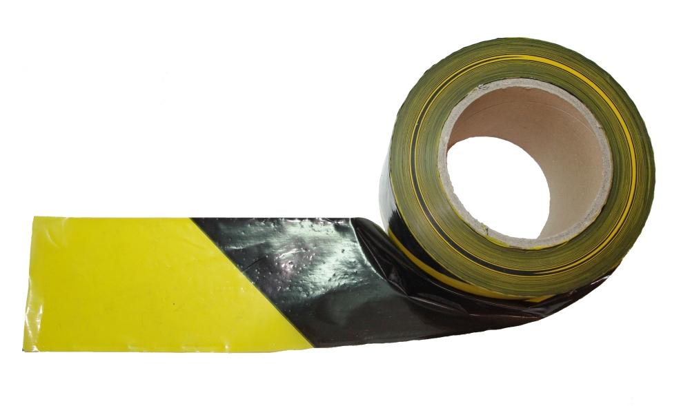 250 meter trassierband schwarz gelb absperrband warnband flatterband neu ebay. Black Bedroom Furniture Sets. Home Design Ideas