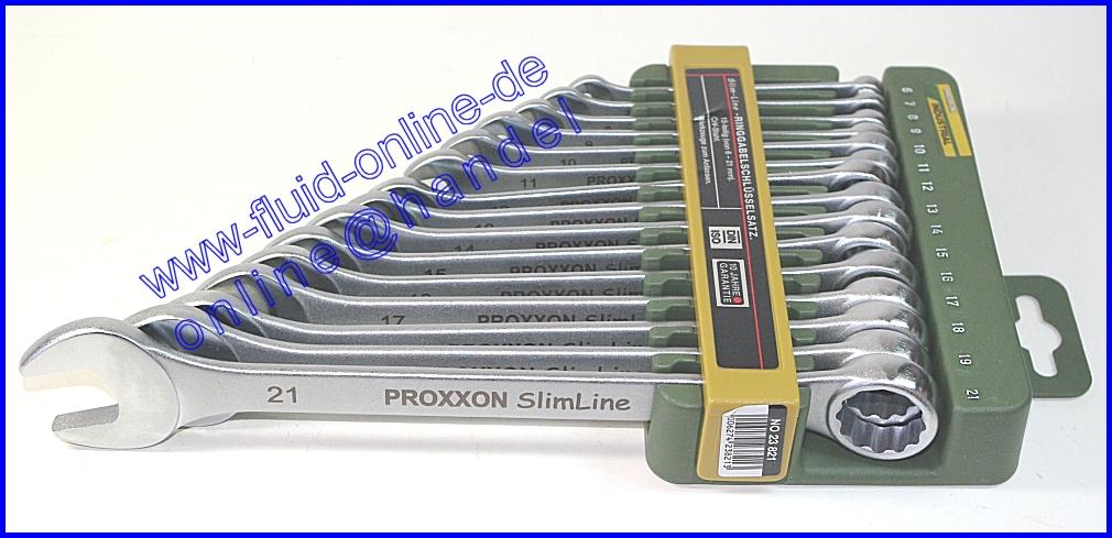 proxxon 23821 satz ring maulschl ssel 6 21mm mit halter 15 teilig set neu ebay. Black Bedroom Furniture Sets. Home Design Ideas