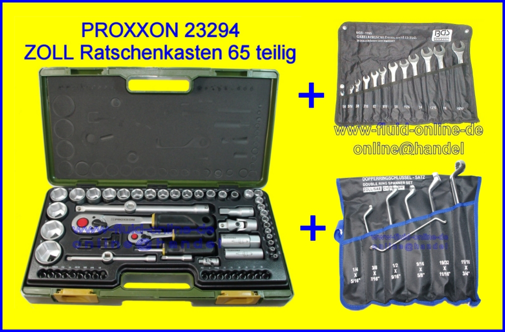 Proxxon 23294 + Rinmaul + Doppelring Schlssel Satz