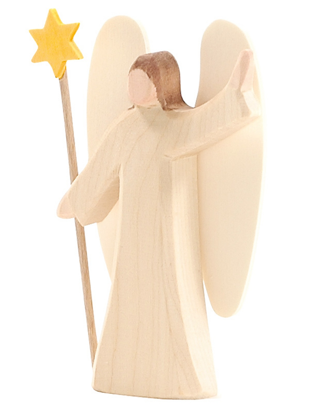 OSTHEIMER 66500 Engel mit Stern Serie MINI Höhe 12cm mit Holzkiste mit Holzwolle