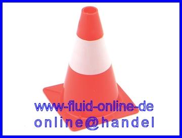 1190-30 Leitkegel 300mm Warnkegel Absperrhut Pylon Höhe 30cm rot//weiß Kunststoff