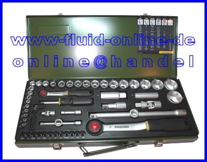 Proxxon 23040 Knarrenkasten 56 Teiliger Werkzeugkoffer Nusskasten
