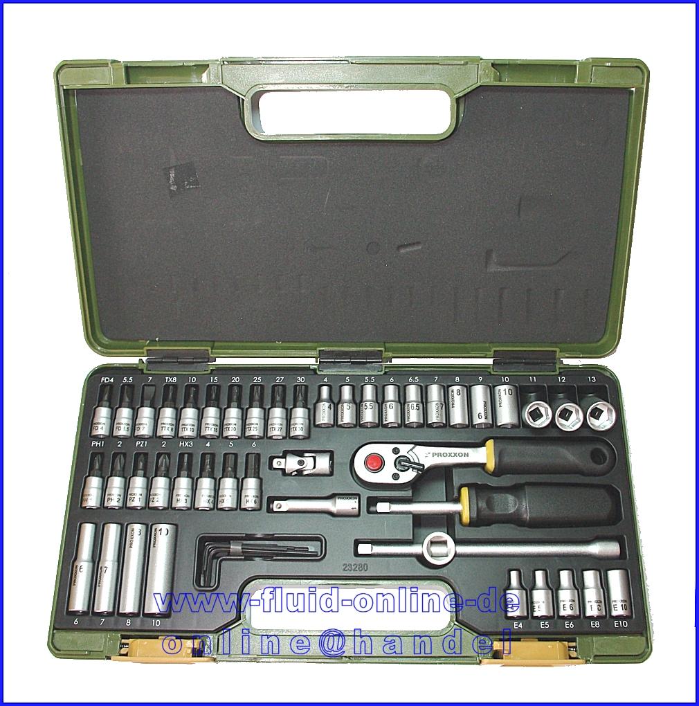 Proxxon 23280 Feinmechaniker Ratschenkasten Mit 6 3mm 1 4 Antrieb