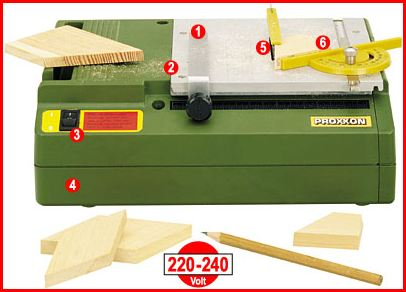proxxon 27070 feinschnitt tischkreiss ge fet mit fester drehzahl f r modellbau ebay. Black Bedroom Furniture Sets. Home Design Ideas