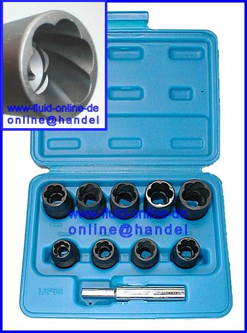 Beliebt BGS 5266 Set Spiralnut Nüsse Werkzeug Ausdrehen Muttern Schrauben NC78